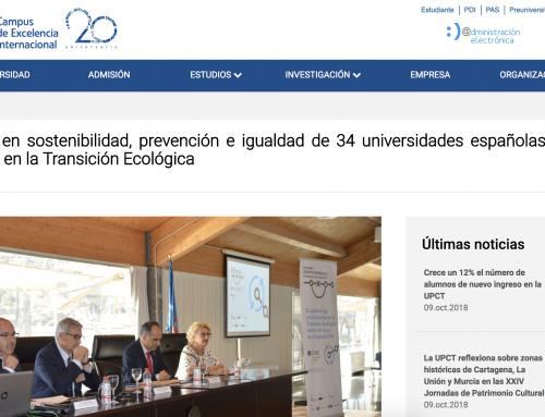 Responsables en sostenibilidad, prevención e igualdad de 34 universidades españolas analizan en la UPCT su papel en la Transición Ecológica